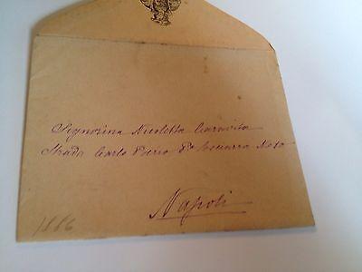 1886 --Meia cara Nicoletta (4 Page signed letter w/Envelope, Napoli, Cento Baci 12