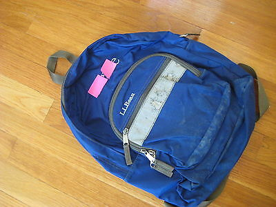 856f800110 1 of 3 LL Bean Junior Original BOOK PACK Royal Blue backpack youth  preschool bag L L