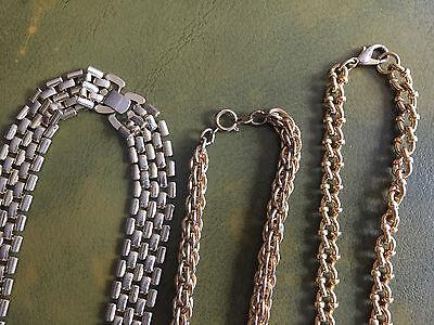 lot 10 colliers ras de cou bleu fil câble fermoir a vis argent 33% mois cher Bijoux et montres Bijoux fantaisie