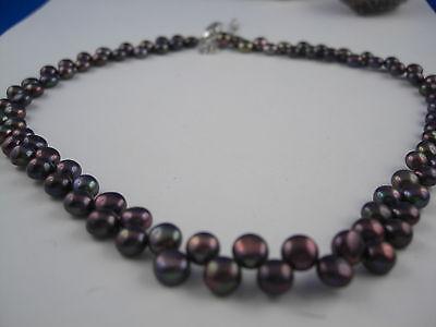 A101 41 cm Zucht Süßwasser Perlen Schmuck Halsketten Perlenketten Ketten Collier