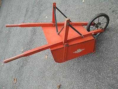 orange WOOD wheelbarrow  HORTICULTURIST original  VINTAGE - 1900's  WHEEL BARROW 6