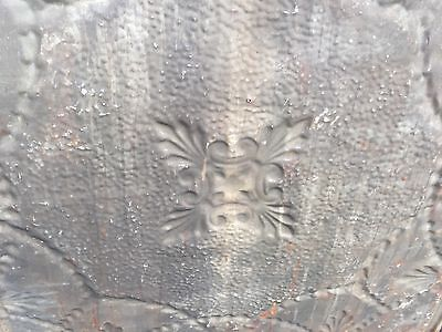 """GORGEOUS antique VICTORIAN tin ceiling pressed white BOW pattern 4 - 24"""" sq pcs 11"""