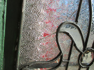 ~ Antique American Stained Glass Window Torch 16 X 51 Architectural Salvage ~ 8