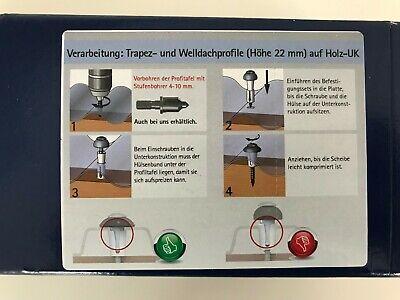 Reisser Abstand-Set DSH2 f/ür Holz-UK Patent Wellplatten Profile Sinus Trapez Dach Kalotten 76//18
