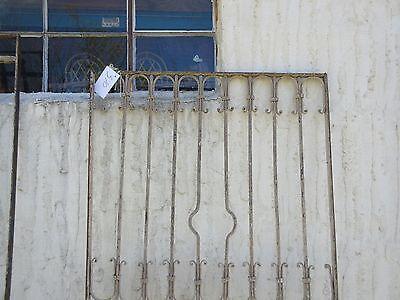 Antique Victorian Iron Gate Window Garden Fence Architectural Salvage Door #370 2