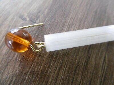 lot 20 anciennes gouttes perles pour lustre à pampille en verre ambre