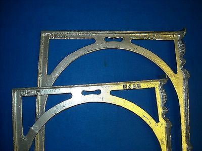 Pair of Two Cast Iron Washtub Legs Marked  HJ&C  Local Pickup only 4