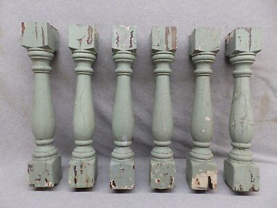 1 Antique Turned Wood Spindle Porch Baluster Thick Old Vtg Architectural 541-17R 7
