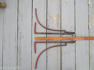 Antique 1800's  Equestrian Hand Forged Iron Tack Saddle Rack Horse 9