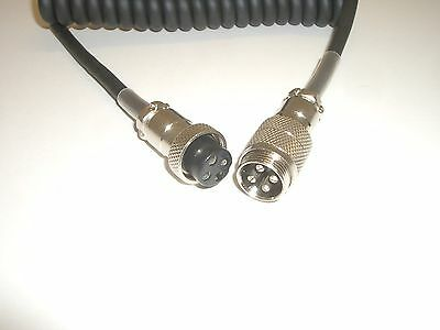 Lot of 10 WORKMAN EX-4 4 FOOT 4-PIN CB RADIO MICROPHONE EXTENSION CORD