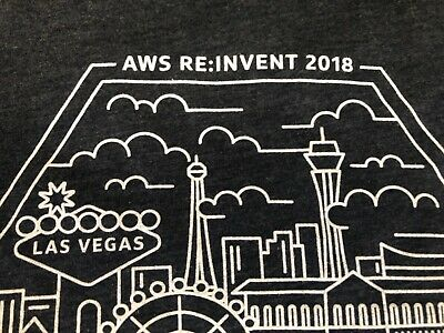 AMAZON Web Services AWS RE:INVENT 2018 Capital One T Shirt Small Used 9