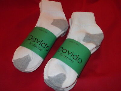 Davido Mens socks ankle/quarter made in Italy 100% cotton 8 pairs black  10-13 4