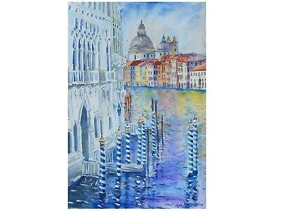 Venedig Druck von Zeitgenössisches Aquarell Malerei Gemälde Art Venice Venezia