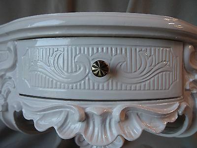 Wall Console Antique/Spiegelkonsolen/Baroque White High Gloss B: 50cm cp84 2