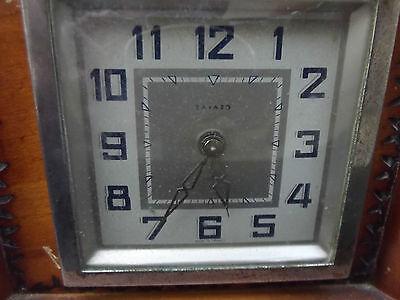 Rare BAYARD castlle wood clock; 3
