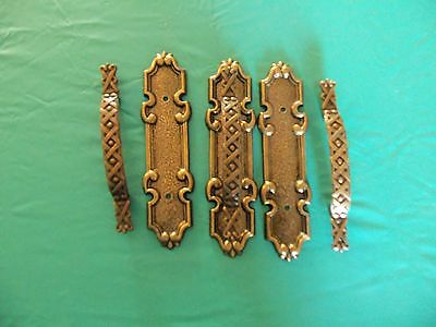 3- Vintage 2 Piece Brass Drawer Pulls 9308, PBI Hardware Solutions, Bronze 3