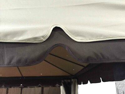 Gazebo 3X4 Giardino In Alluminio Telo Impermeabile Poliestere Pu Con Air Vent 6