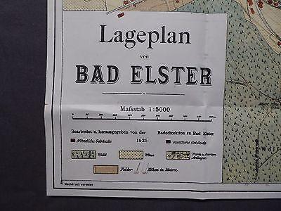 Landkarte, Stadtplan, Lageplan von Bad Elster, 1:5000, Carl Wirwahn 1925