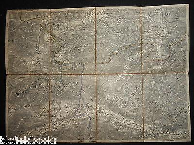 Vintage Folding Map of Zirl & Nassereith (Austria, Alps) c1880 Zone 16, Col IV 2