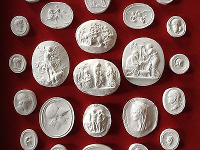 27 Grand Tour Cameos intaglios Gems Medallions plaster cameo seals Classic 4