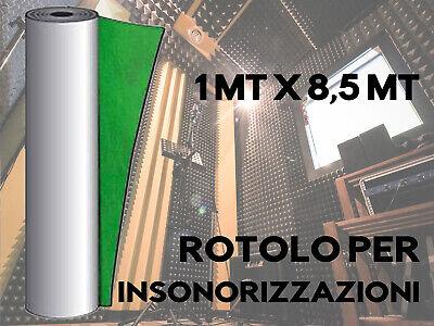 INSONORIZZAZIONE MUSICA ROTOLO AUTO ADESIVO 8,5M Piombo Gommapiombo Polipiombo 5