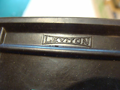 vintage INDUSTRIAL group of 2 LEVITON switch covers, one in plastic still 3