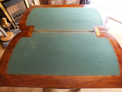 Antique Victorian Walnut Card/Games Table. 3