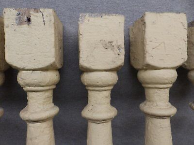 1 Antique Turned Wood Spindle Porch Baluster Thick Old Vtg Architectural 525-17R 9