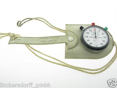 Hanhart Stoppuhr Zehntelsekunden Inkl. Tasche Ca. 70Er