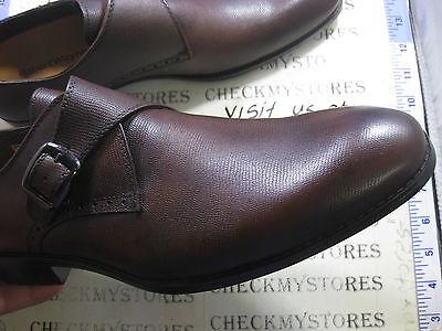 US 8.5 $120 Robert Wayne Mens Valor Slip On Loafer Shoes Pebbled Tobacco