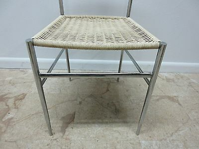 Vintage Mid Century Chrome Italian Ladder Back Dining Side Desk Chair 6