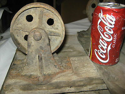 Antique Industrial Steampunk Cast Iron Castor Wheel Table Trolley Cart Stand Usa 4
