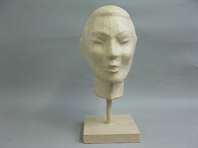 Kopf aus Pappmaschee Kopfhörerhalter Perückenkopf Hutkopf Huthalter 37cm 3
