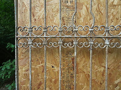 Antique Victorian Iron Gate Window Garden Fence Architectural Salvage Door T 6