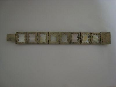 ancien bracelet argent et nacre 9