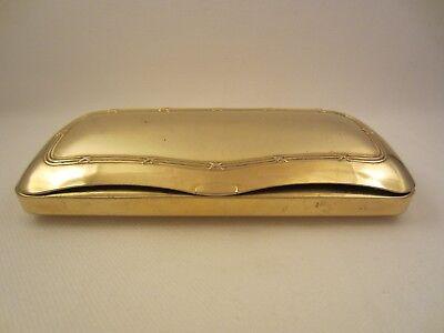 GOLDENES BRILLENETUI METALL GOLD ALT VINTAGE ETUI BOX für BRILLE o. SONNENBRILLE