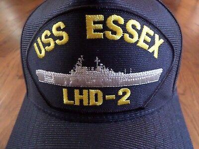 c55224a60 USS ESSEX LHD-2 U.s Navy Ship Hat U.s Military Official Ball Cap U.s.a Made