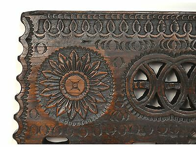 16/17th Century Antique Carved Wood Architectural Decorative Panel 6