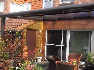 Terrassendach Alu Sonnenschutz-Stegplatten klar Terrassenüberdachung 6 m breit 4
