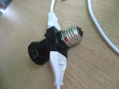Adapter  für E27-Glühbirne / Stecker 4A 250V, Stromdieb,Weihnachten,Lichterkette