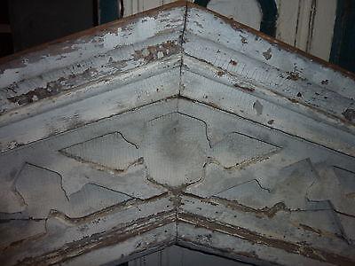 "c1820-30 Colonial era wooden DOOR pediment CRACKLED white paint 72"" x 40"" 2"