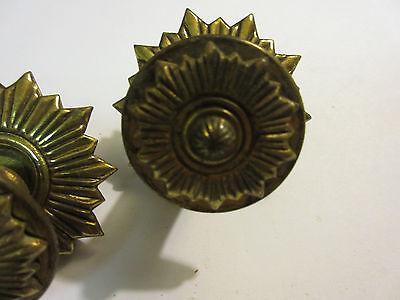 2 Vintage Regency Brass Hardware Drawer pulls Handles Dresser pierce carved 4