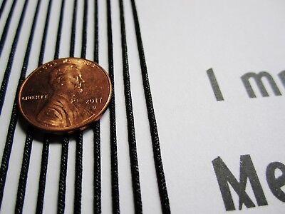 12 Ft Radio Dial Cord BRAIDED Nylon String 1mm BLACK for Vintage Radio Tuner