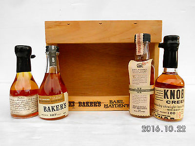 Jim Beam Small Batch Miniature Set In Timber Cabinet -Features Round Knob Creek! 7