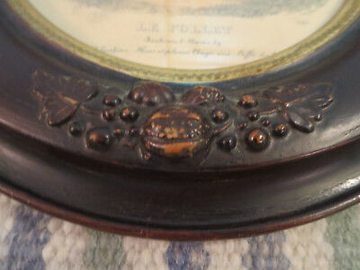 """2 Antique Edwardian Carved Wood 14"""" by 12-1/4"""" Oval Picture Frames 4"""
