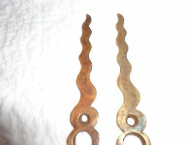 Rare Pair of 19th.c Solid Brass Serpentine Key Escutcheons 7