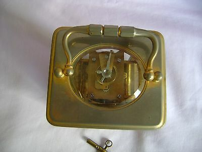 ANTIQUE c1880 FRANCOIS ARSENE MARGAINE TIMEPIECE CARRIAGE CLOCK + KEY IN GWO 4