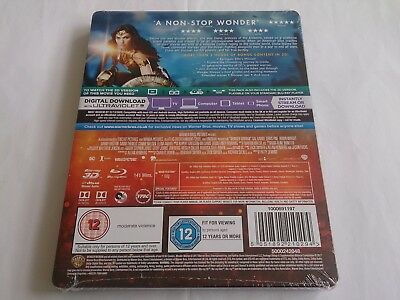 Wonder Woman 3D (4000 ONLY HMV Exclusive Limited Ed Blu-ray Steelbook) [UK 6