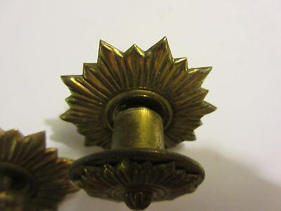 2 Vintage Regency Brass Hardware Drawer pulls Handles Dresser pierce carved 5