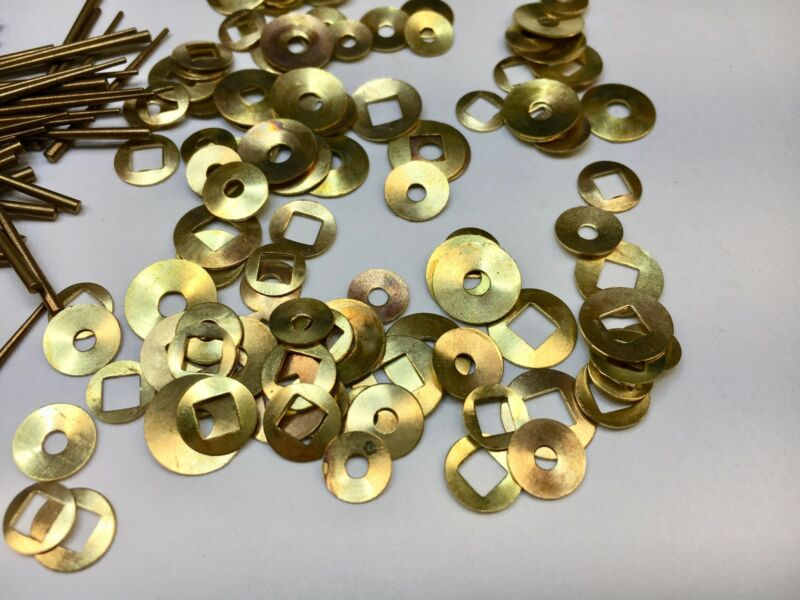 Clock Repair Brass Washers and Tapered Pins assortment 200 Piece